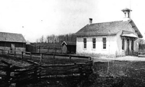The West Farmington School built ca. 1870 was located at the intersection of 13-Mile Road and Drake.