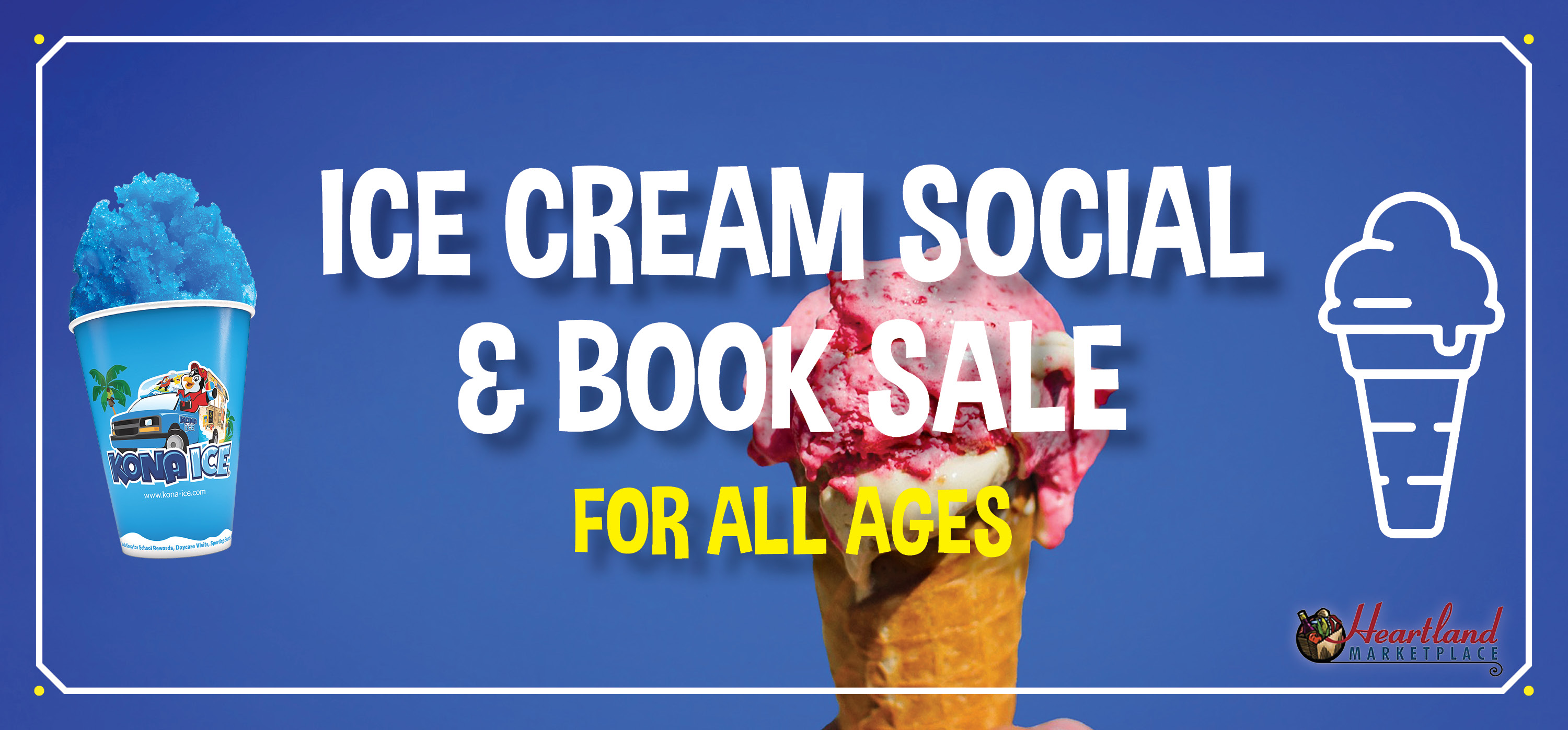 Ice Cream Social and Children's Used Book Sale