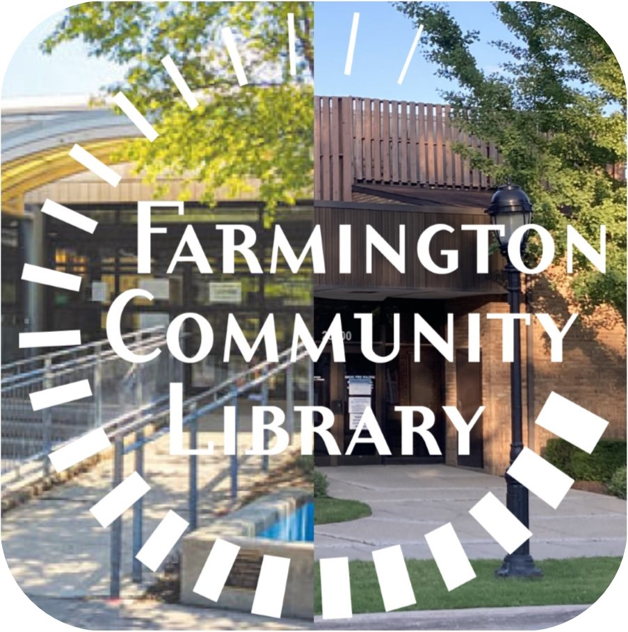 Farmington Community Library branches with FCL logo