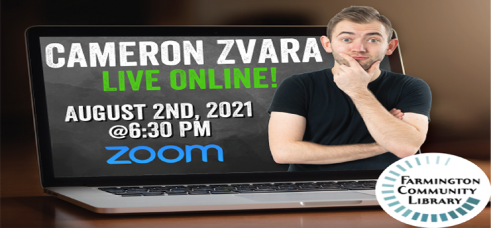 Cameron Zvara LIVE Online! (Summer Reading Final Party)